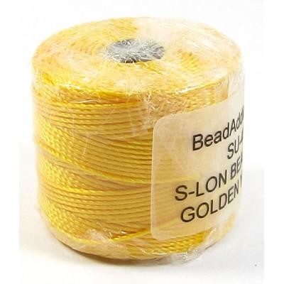 1 Reel Superlon Bead Cord Golden Yellow