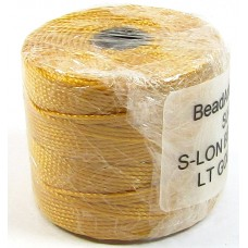 1 Reel Superlon Bead Cord Light Gold
