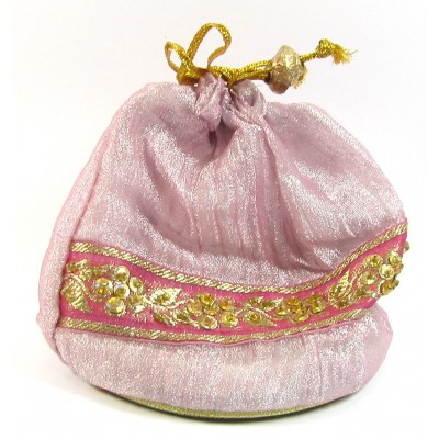 1 Small Drawstring Sequin Pouch
