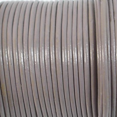 1 Metre 1.5mm Round Leather Cord Mauve