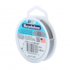 49 Strand Beadalon Wire 0.018 Bright 10 ft