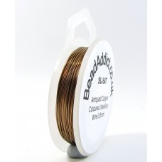 1 Spool Antiqued Copper Coloured Jewellery Wire 0.4mm