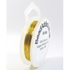 1 Spool Gold Coloured Jewellery Wire 0.4mm