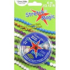 Spool of 4 Metres Stretch Magic Elastic Cord 1.5mm  - Clear
