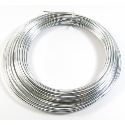 1 Metre 2mm Round Bright Aluminium Wire