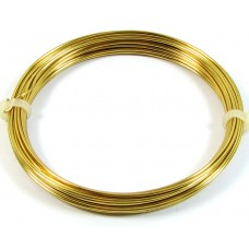 Coil Brass 1.0mm Jewellery Wire, 4 metres