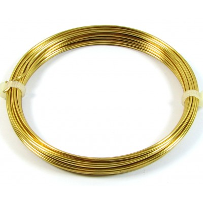 Coil Brass 0.6mm Jewellery Wire, 10 metres