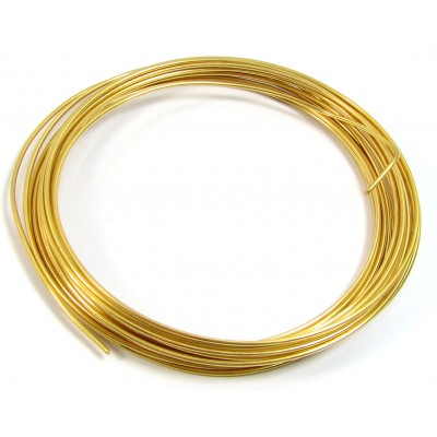Coil Goldtone Jewellery Wire 0.6mm