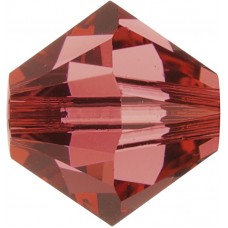 100 Padparadascha 4mm Swarovski Crystal Bicone Beads Article 5301/ 5328