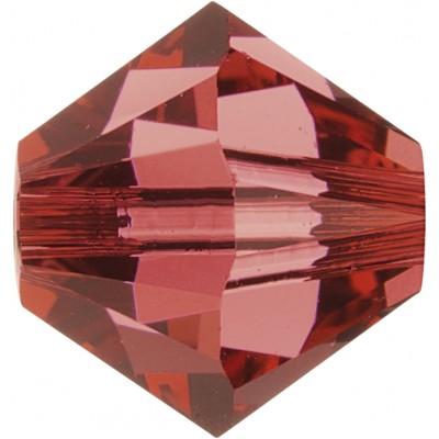 100 Padparadascha 4mm Swarovski Crystal Bicone Beads Article 5301/ 5328