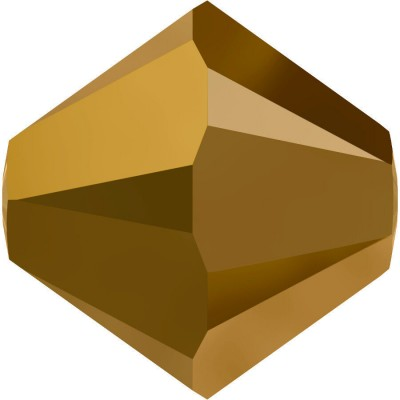 50 Swarovski Crystal 4mm Gold Dorado 2x Bicone Beads Article 5301/ 5328