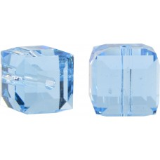 10 Swarovski Crystal Aquamarine 4mm Cube Beads Article 5601