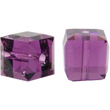 10 Swarovski Crystal Amethyst 6mm Cube Beads Article 5601