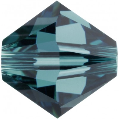 50 Swarovski Crystal 5mm Indicolite Bicone Beads Article 5301/ 5328