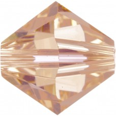 100 4mm Light Peach Swarovski Crystal Bicone Beads Article 5301/ 5328