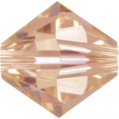 100 4mm Light Peach Swarovski Crystal Bicone Beads Article 5301/ 5328