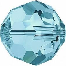 12 4mm Swarovski Crystal Aquamarine round beads Article 5000