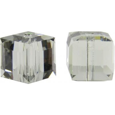 10 Swarovski Crystal Black Diamond 6mm Cube Beads Article 5601