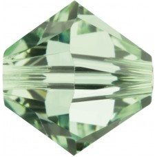100 Chrysolite 4mm Swarovski Crystal Bicone Beads Article 5301/ 5328
