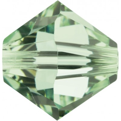 50 Chrysolite 5mm Swarovski Crystal Bicone Beads Article 5301/ 5328