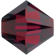 100 4mm Swarovski Crystal Ruby Bicone Beads Article 5301/ 5328