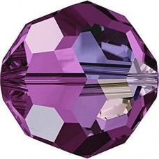 20 6mm Round Beads AB Amethyst Swarovski Crystal Article 5000