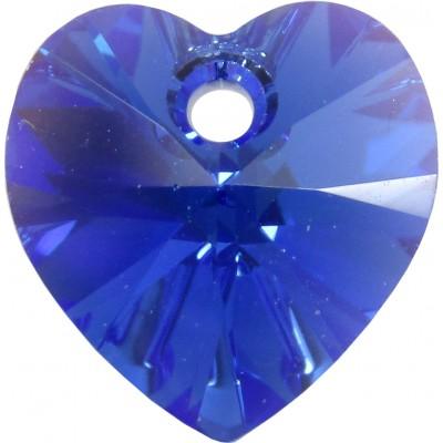 10 Swarovski Crystal Sapphire AB Heart Pendants Article 6228