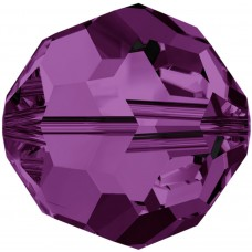 20 4mm Amethyst Round Swarovski Crystal Beads Article 5000