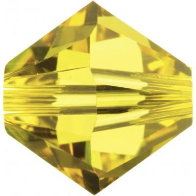 50 Swarovski Crystal Light Topaz 5mm Bicone Beads Article 5301/ 5328