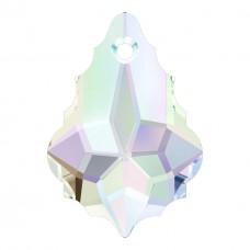 2 Swarovski Crystal Aurora Borealis Baroque Pendants Article 6090