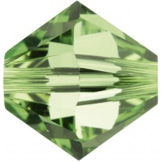 50 5mm Swarovski Crystal Peridot Bicone Beads Article 5301/ 5328