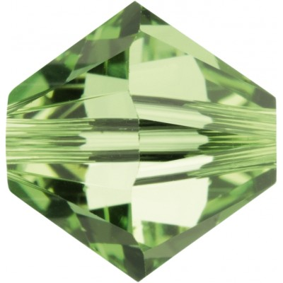 50 5mm Swarovski Crystal Peridot Bicone Beads Article 5301/ 5328