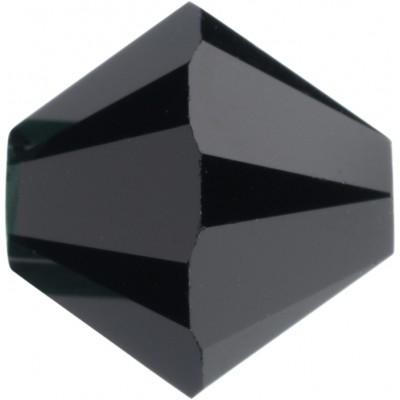 50 5mm Swarovski Crystal Jet Black Bicone Beads Article 5301/ 5328