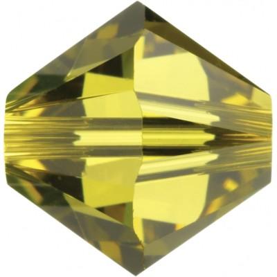 100 Lime 4mm Swarovski Crystal Bicone Beads Article 5301/ 5328