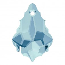 2 Swarovski Crystal Baroque Pendants Aquamarine Article 6090