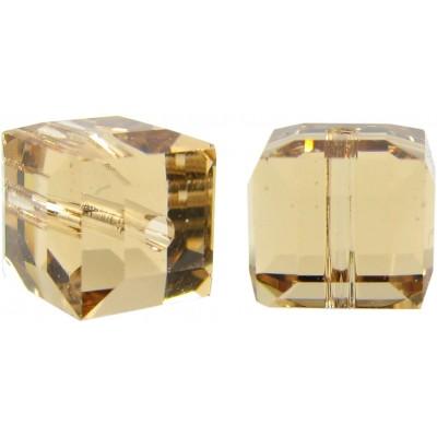 10 Swarovski Crystal Light Colorado Topaz 6mm Faceted Cube Beads