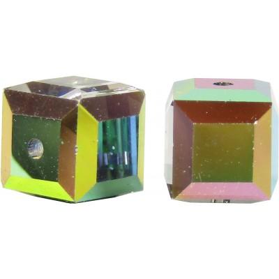 10 Swarovski Crystal 6mm Vitrail Medium Cube Beads Article 5601