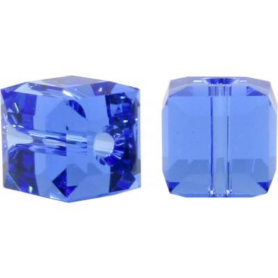 10 Swarovski Crystal Sapphire 6mm Cube Beads Article 5601