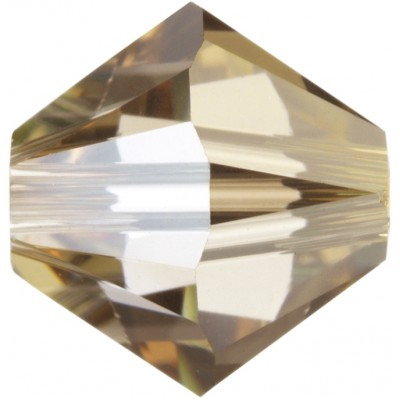 50 Swarovski Crystal 5mm Crystal Golden Shadow Bicone Beads Article 5301/ 5328