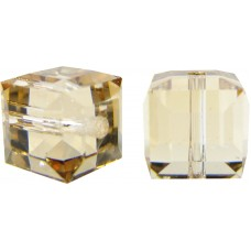 8 Swarovski Crystal 6mm Crystal Golden Shadow Cube Beads Article 5601