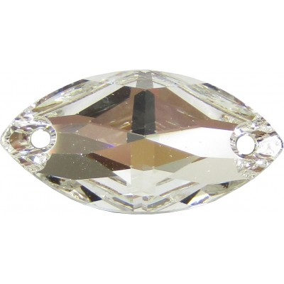 2 Swarovski Crystal Foiled 12x6mm Flat Back 2 Hole Sew on Stone