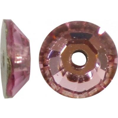 100 4mm Swarovski Crystal Light Rose Foiled Sparkles Crystal Spacer Beads