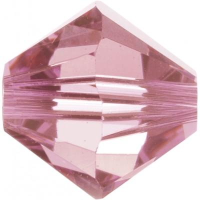 100 4mm Swarovski Crystal Light Rose Bicone Beads Article 5301/ 5328