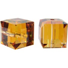 10 Swarovski Crystal 6mm Crystal Copper Cube Beads Article 5601