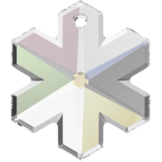 1 Large Swarovski Crystal/ AB Snowflake Pendant Article 6704