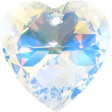 1 Large Heart Swarovski Crystal/ AB Pendant/ Hanging Crystal Article 6228