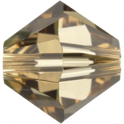 100 Swarovski Crystal Light Colorado Topaz 4mm Bicone Beads Article 5301/ 5328
