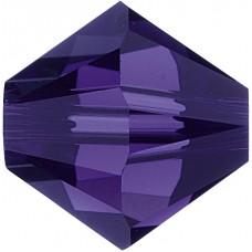50 5mm Swarovski Crystal Purple Velvet Bicone Beads Article 5301/ 5328