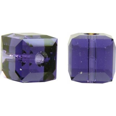 10 Swarovski Crystal Purple Velvet 6mm Cube Beads Article 5601