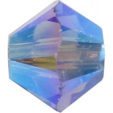 50 Swarovski Crystal Tanzanite AB (2X) 4mm Bicone Beads Article 5301/ 5328
